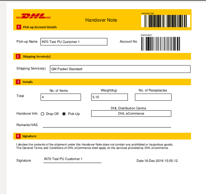 Dhl Pickup Locations >> Dhl Ecommerce Create Pickup Ebay Global Shipping